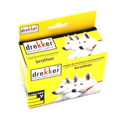 Cartridge Brother LC1100 yellow alt. Drekker